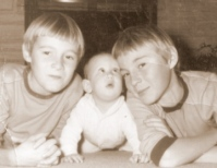 Still leaning on my older brothers even after all these years...
