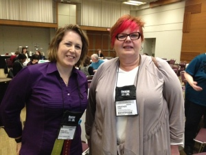The always fabulous and talented Kelley Armstrong with the equally fabulous Heather, my co-chair.