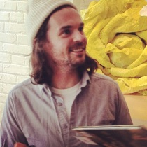 Oliver Jeffers signs books for the staff at Indigo … and for ME.