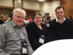 The amazing Liz in between Red Maple non-fiction nominee Bill Swan and RM fiction nominee Wesley King.