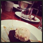 Every good dinner deserves warm gingerbread, salted caramel ice cream and wine...