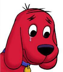 Clifford crying